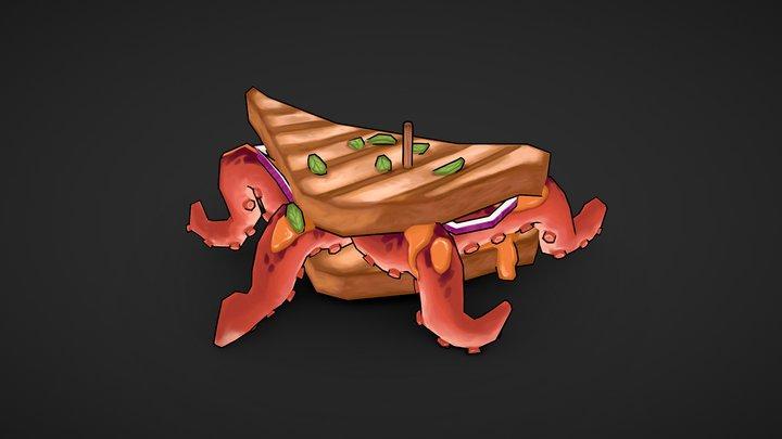 Octopus Sandwich 3D Model