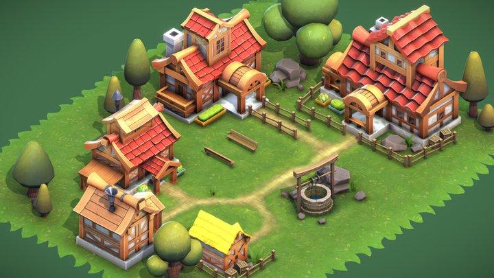 Village House Upgrades 3D Model
