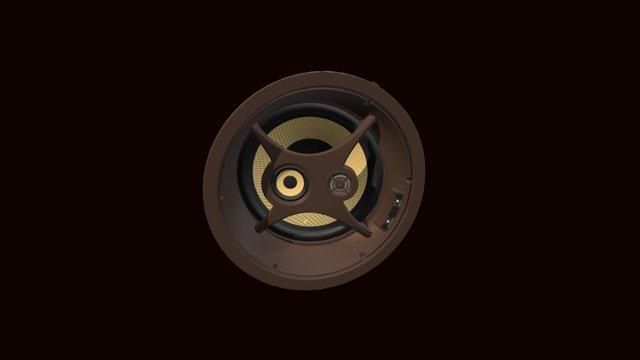 """C1075s 10"""" Ceiling LCR Speaker 3D Model"""