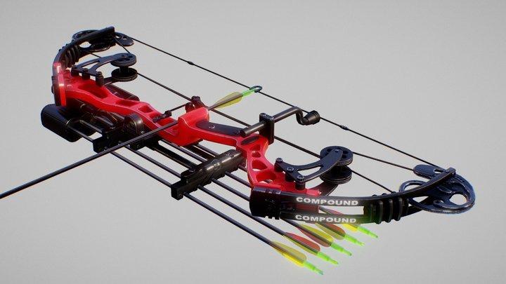 Compound Bow 3D Model