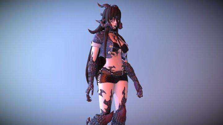 Demon Girl Amaranth 3D Model