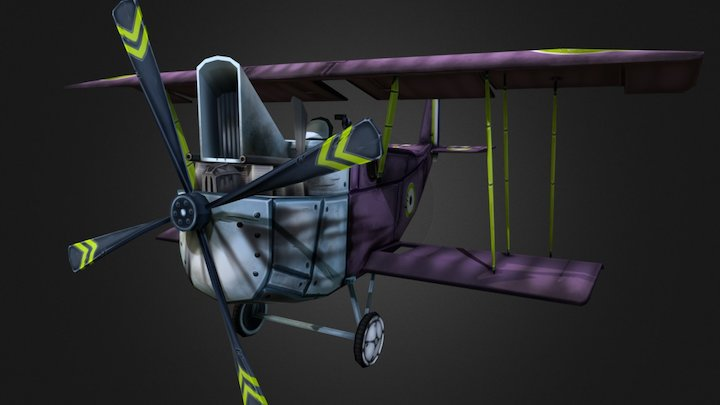 Stylized WWI airplane, RE.8 'Harry Tate' 3D Model