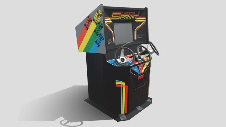atari super sprint arcade 3 player 3D Model