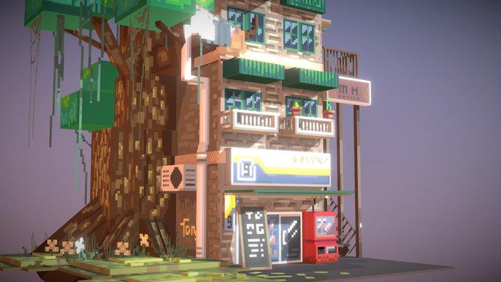 THE PIXEL Architecture通仔滴像素建筑 3D Model