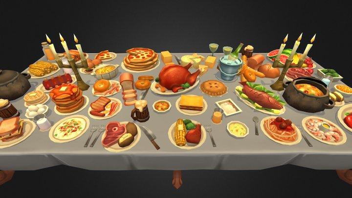 Delicious Food Stuffz 3D Model
