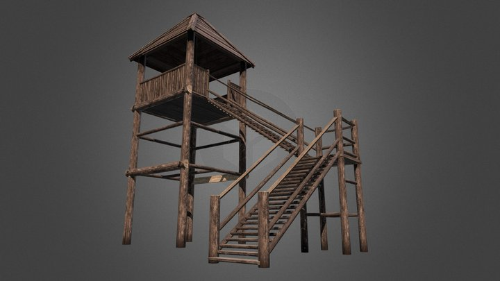 Viking Guard Tower 3D Model