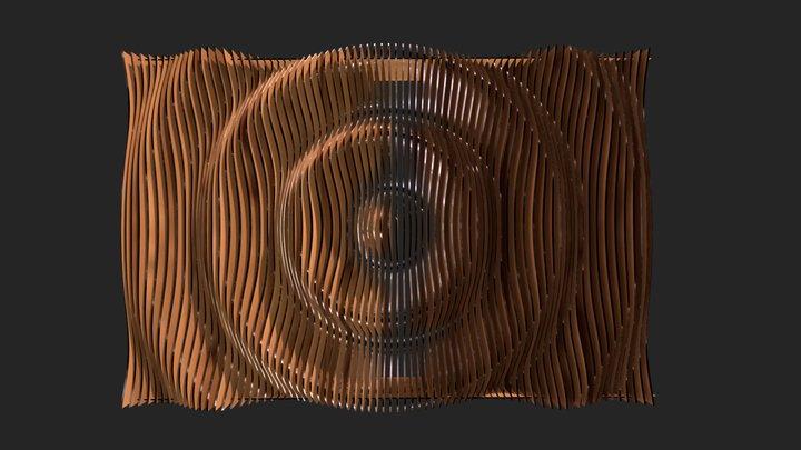 Wood Ripple 3D Model
