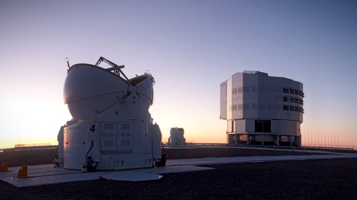 ESO's Very Large Telescope at Sunset 3D Model