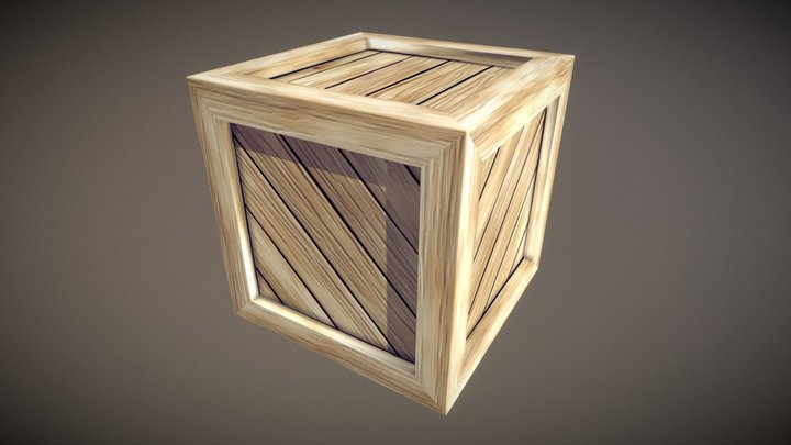 Simple Crate - Cartoonified 3D Model
