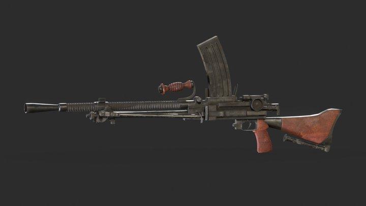 Type - 99 Gun 3D Model