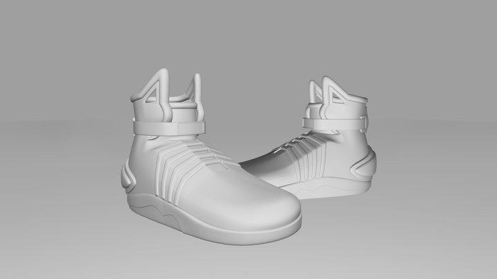 Futuristic High Top Sneakers 3D Model