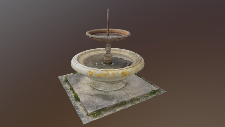 St Anthony Fountain, Penzance 3D Model
