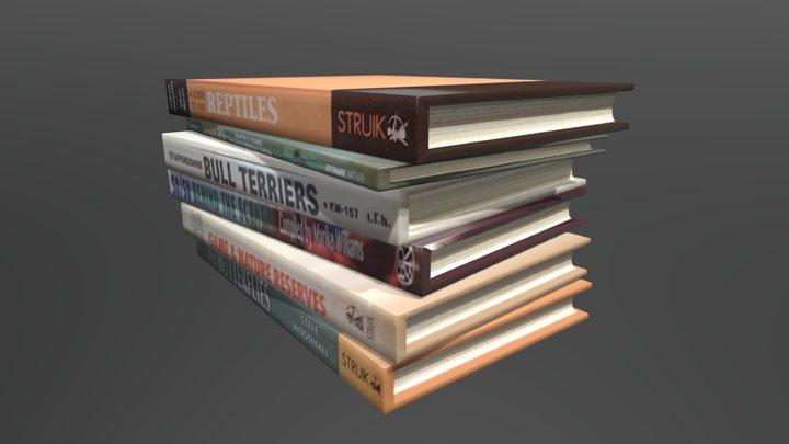 Simple bookstack 3D Model