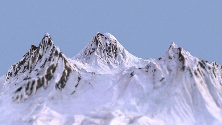 Snow valley 3D Model
