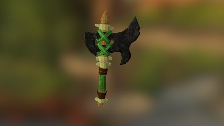 Huix Obsidian Axe 3D Model