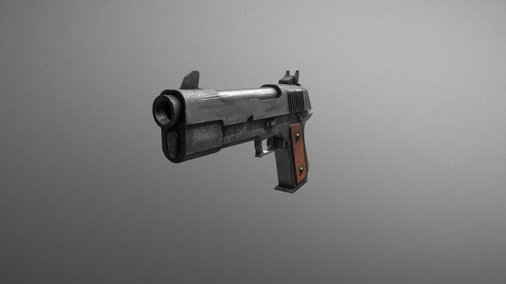 Fortnite Pistol 3D Model