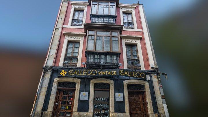 Gallego restaurant building facade scan 3D Model