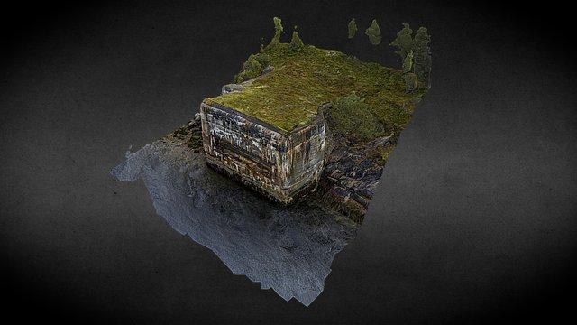 Flakgeschützstellung eines Bunkers 3D Model