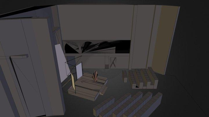 Leaning backdrop~.dae 3D Model