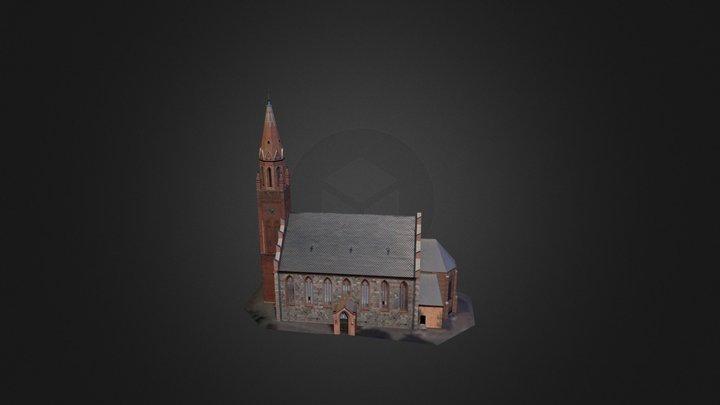Neogotycki kościół w Przodkowie 3D Model