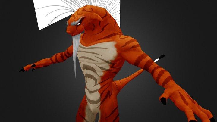 tigerLizard 3D Model