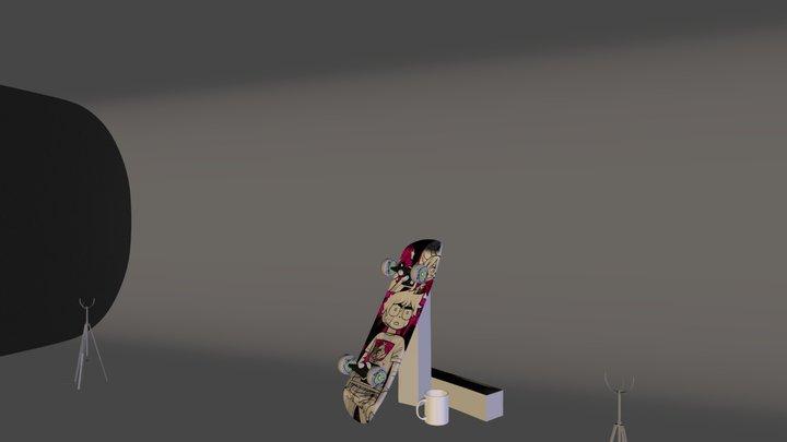 Scott Pilgrim Skateboard 3D Model