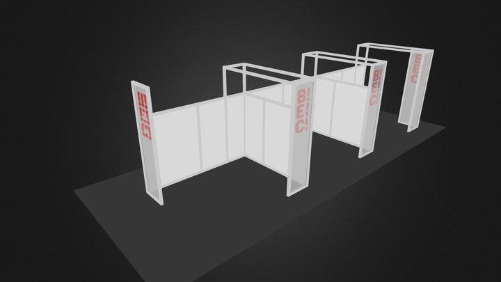 Octanorm 4x3 lona rejilla 3D Model