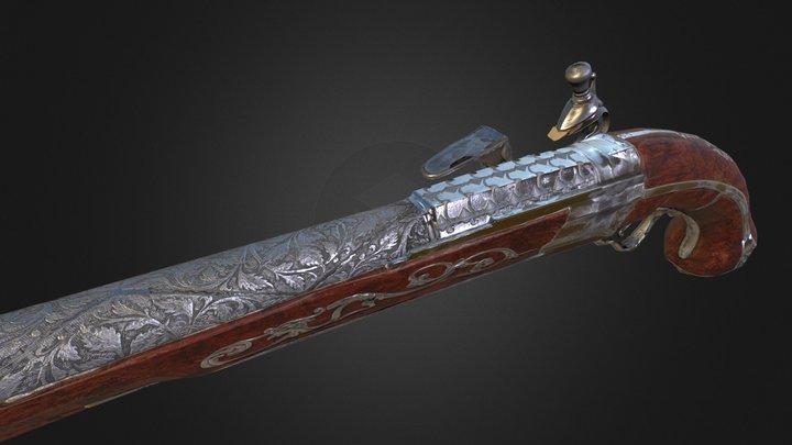 3D Flintlock Game Asset 3D Model
