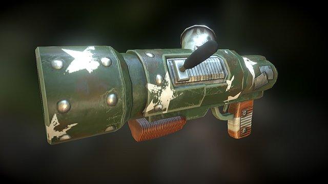 Stylized Rocket Launcher 3D Model