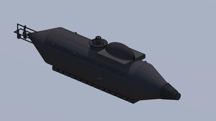 Flach Submarine 3D Model