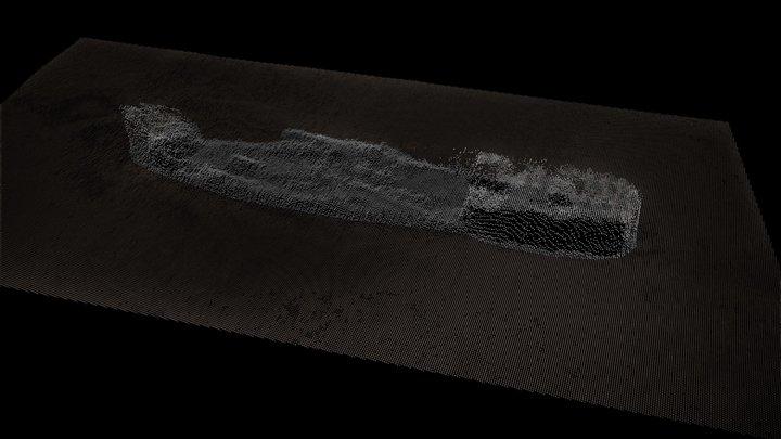 Llongddrylliad dirgelwch / Mystery wreck 3D Model