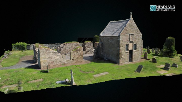 Kinfauns Parish Church - Post consolidation 3D Model