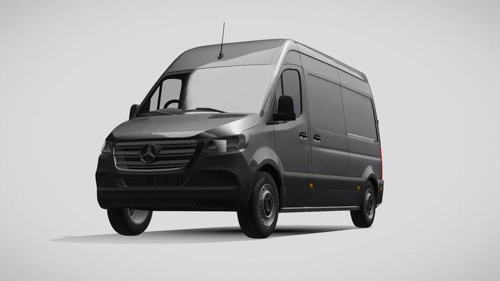 Mercedes Benz Sprinter L2H2 UK-spec 2020 3D Model