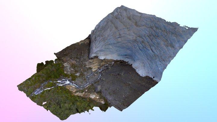 Ice cave on the Perito Moreno glacier 3D Model