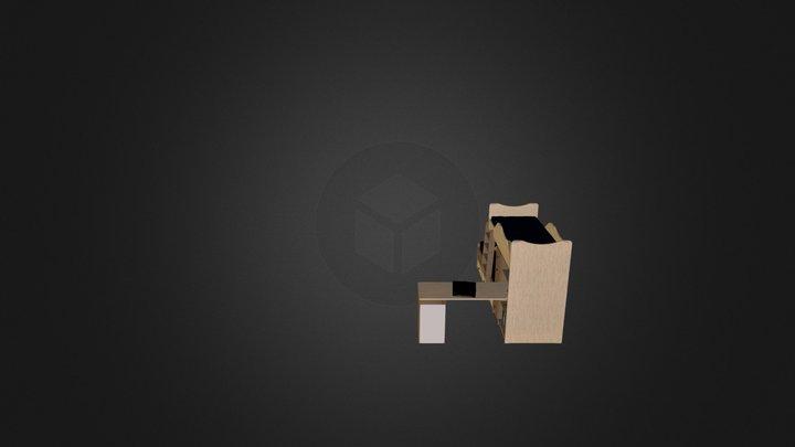 מיטת קומותיים חלומית 1 דוגמא 1 נגרר 263 3D Model