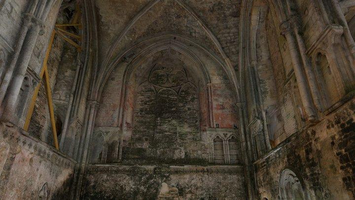 Abbaye de Longues - Intérieur et choeur 3D Model