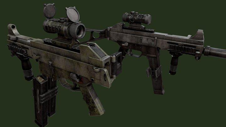 SMG_H&K UMP 3D Model