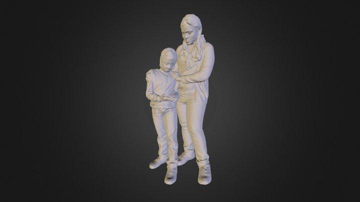Mother Daughter 3D Model