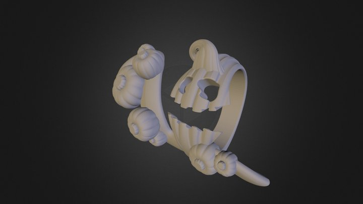 Pumpkin Fingerbiter 3D Model