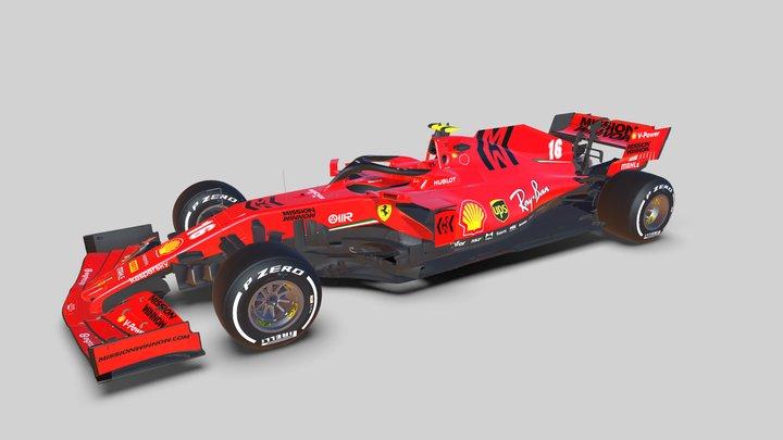 F1 2020 Ferrari SF1000 3D Model