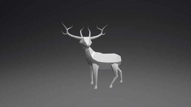 Low Poly Deer 3D Model