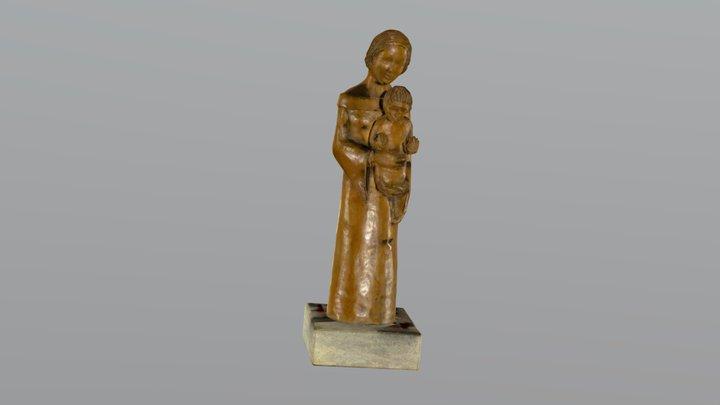 Vierge à l'enfant 3D Model