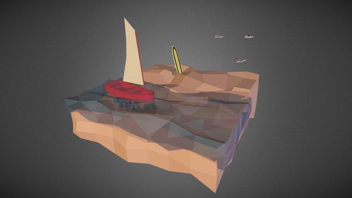Small beach 3D Model