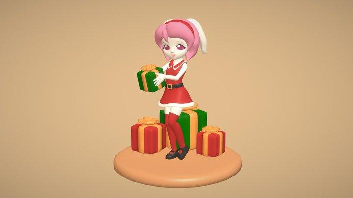 Christmas Niho-chan 3D Model