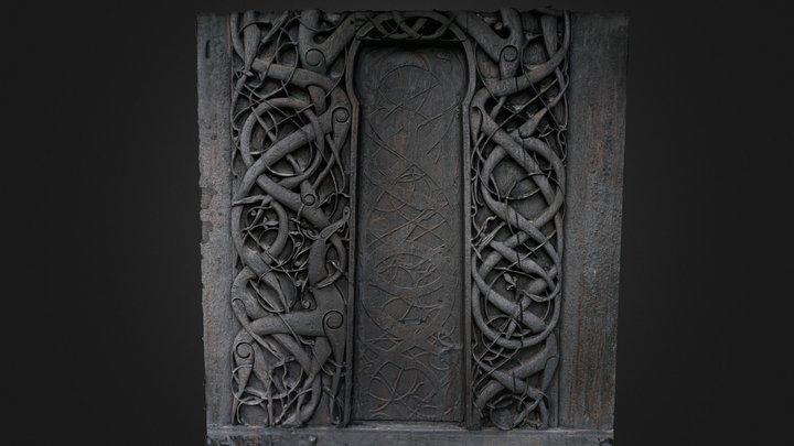 Urnes (Norway),  carvings at the stave church 3D Model