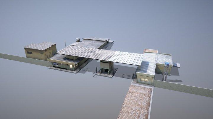 MilitaryBase_PortoVelho_RoadBlock 3D Model