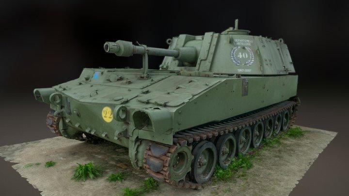 Howitzer Artillery Tank 3D Model