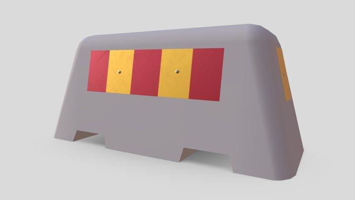 Cement Roadblock 3D Model