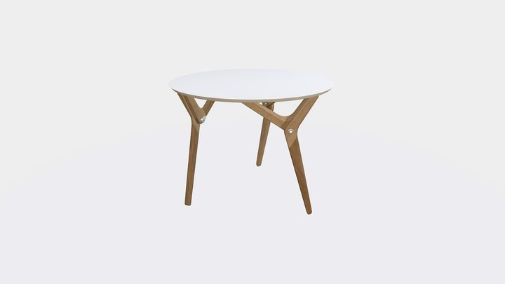 Boulon Blanc - Removable table 3D Model
