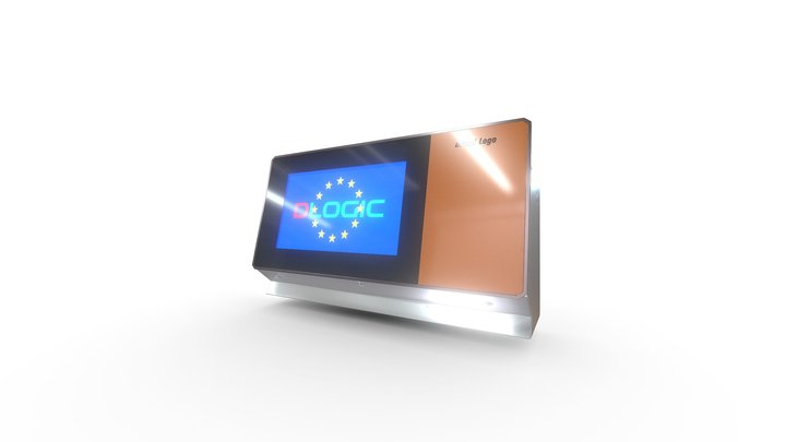 Industrial Touch Display 3D Model